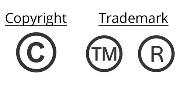 The Difference between Trademark™, Registered®, and Copyright©